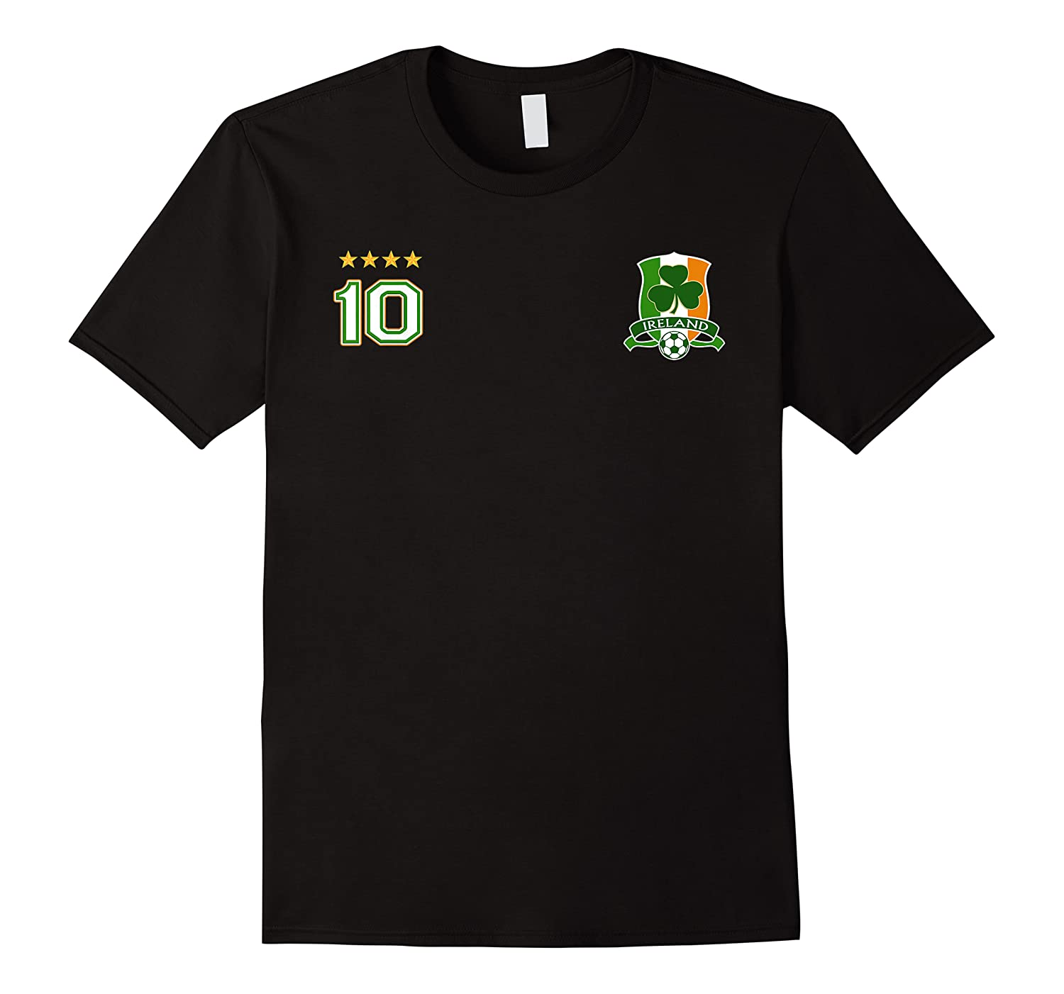 Ireland Soccer Design With Irish Shield And Number 10 Shirts
