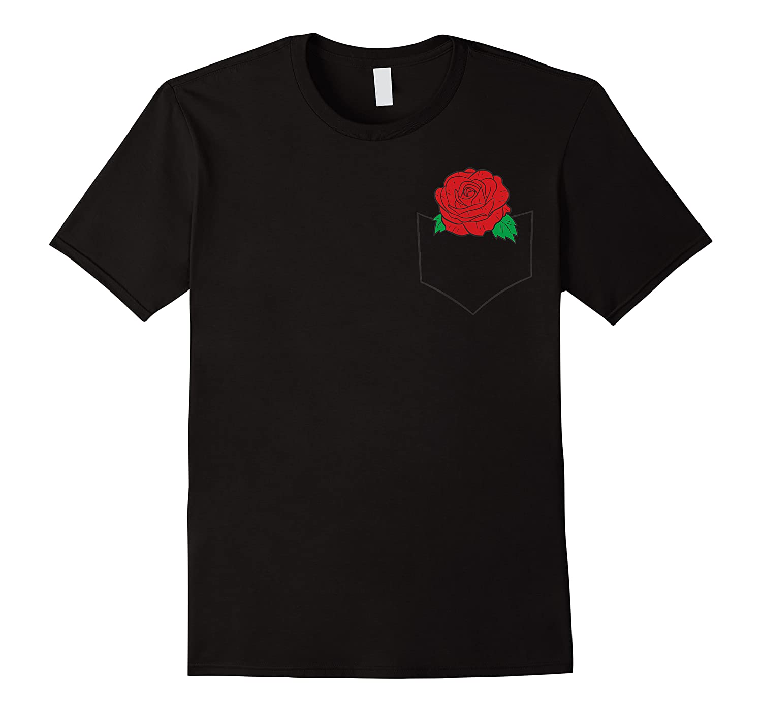 Cute Flowers Red Roses Pocket Red Roses In The Pocket Shirts