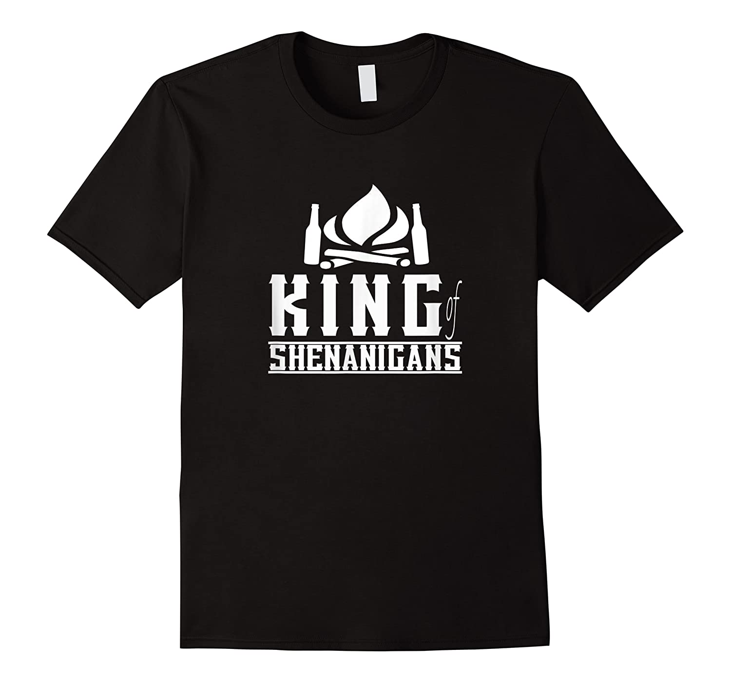 King Of Shenanigans Funny Bachelor Party Animal Drink Fun Shirts