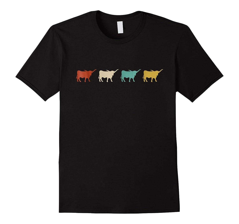 Vintage Retro Longhorn Cow Farm Animal Gift 2 Shirts