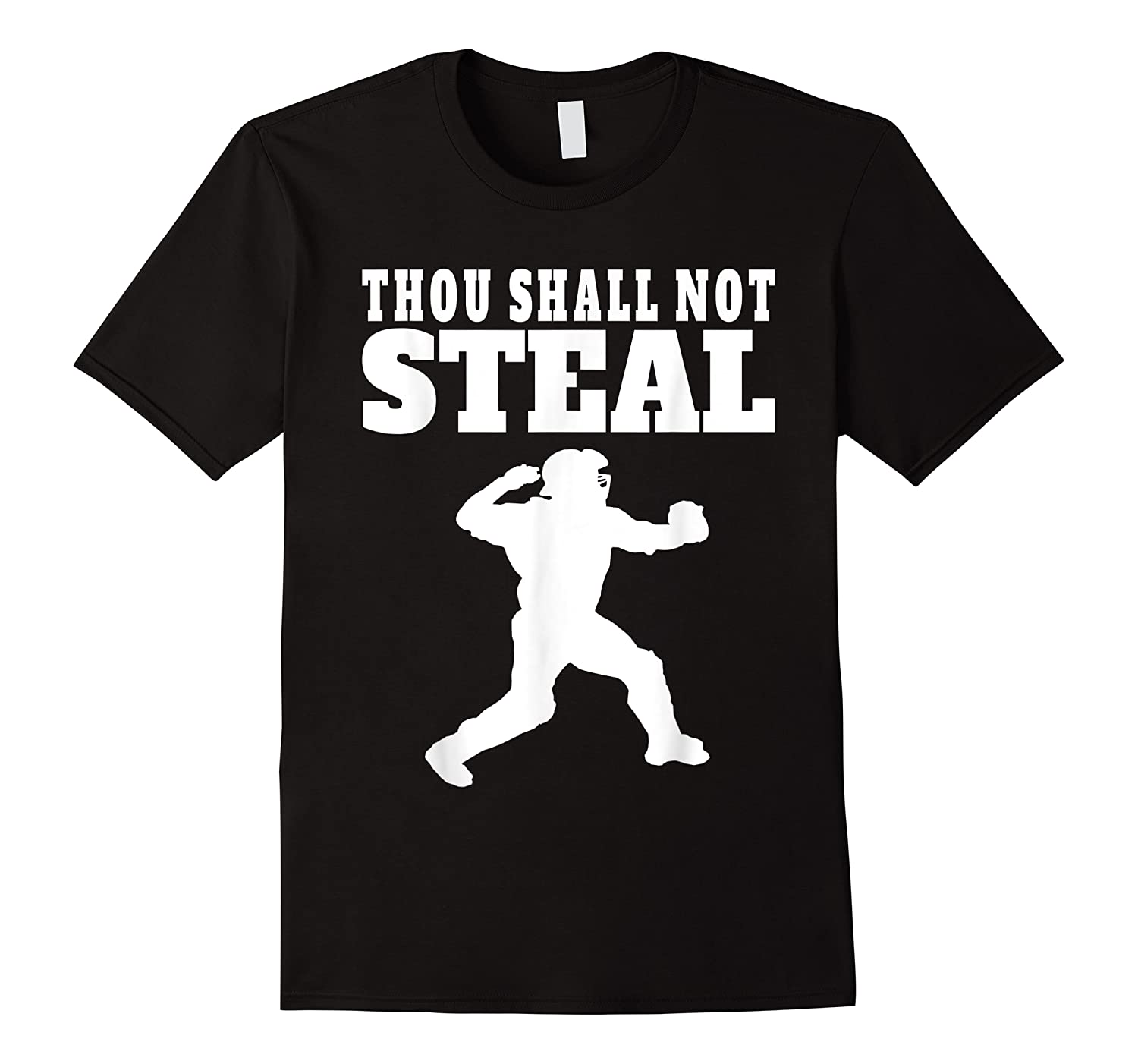 Thou Shall Not Steal Funny Baseball Cat Shirts