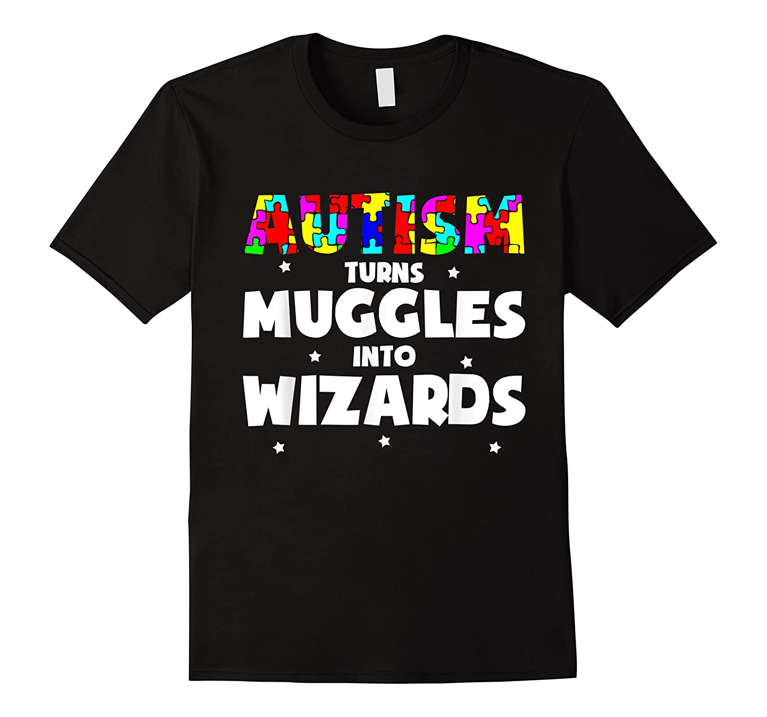Autism Turns Muggles In To Wizards Autism Awareness Puzzle Shirts