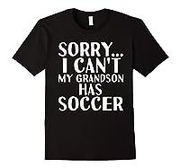 Grandpa Grandma | My Grandson Has Soccer T-shirt Black