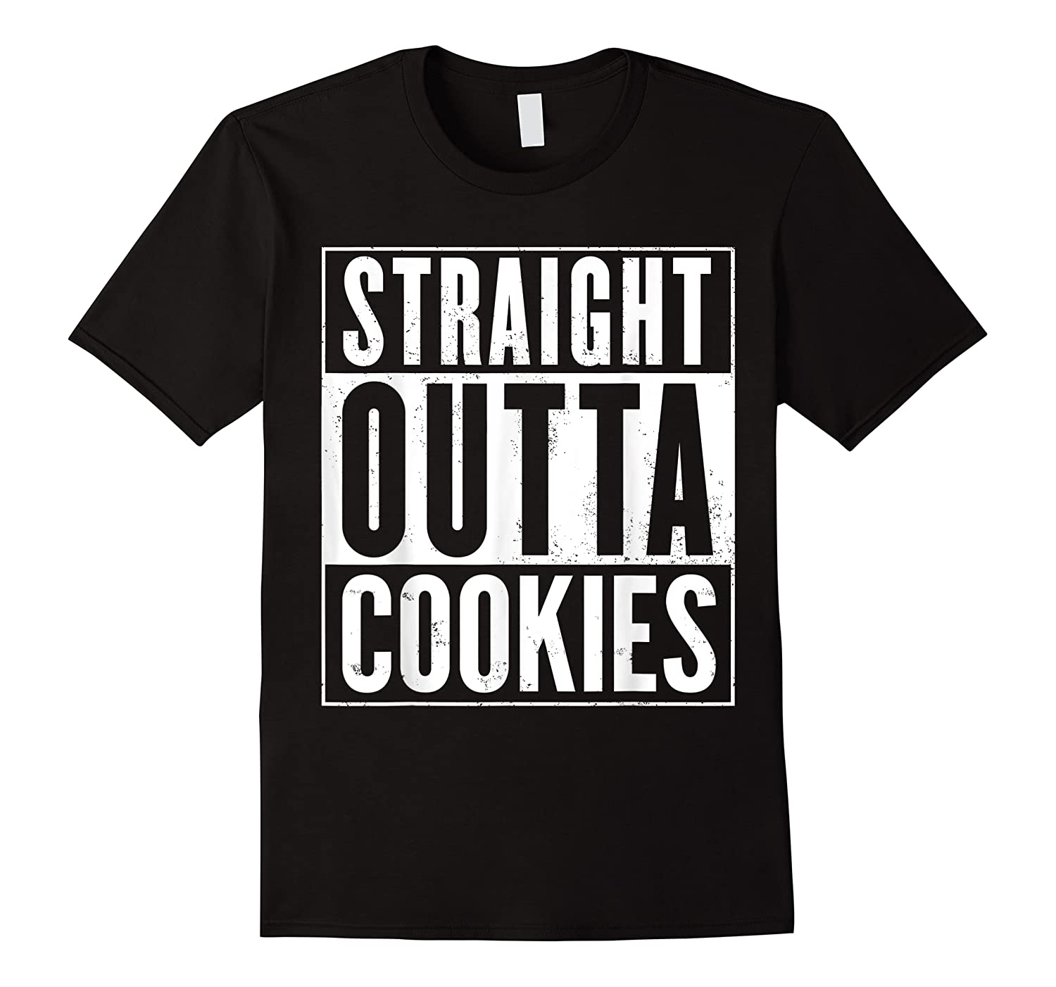 Straight Outta Cookies Distressed Vintage Funny Shirts