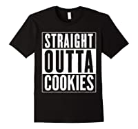 Straight Outta Cookies Distressed Vintage Funny Shirts Black