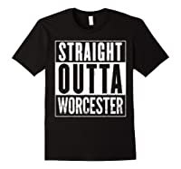 Straight Outta Worcester Distressed Vintage Funny Shirts Black