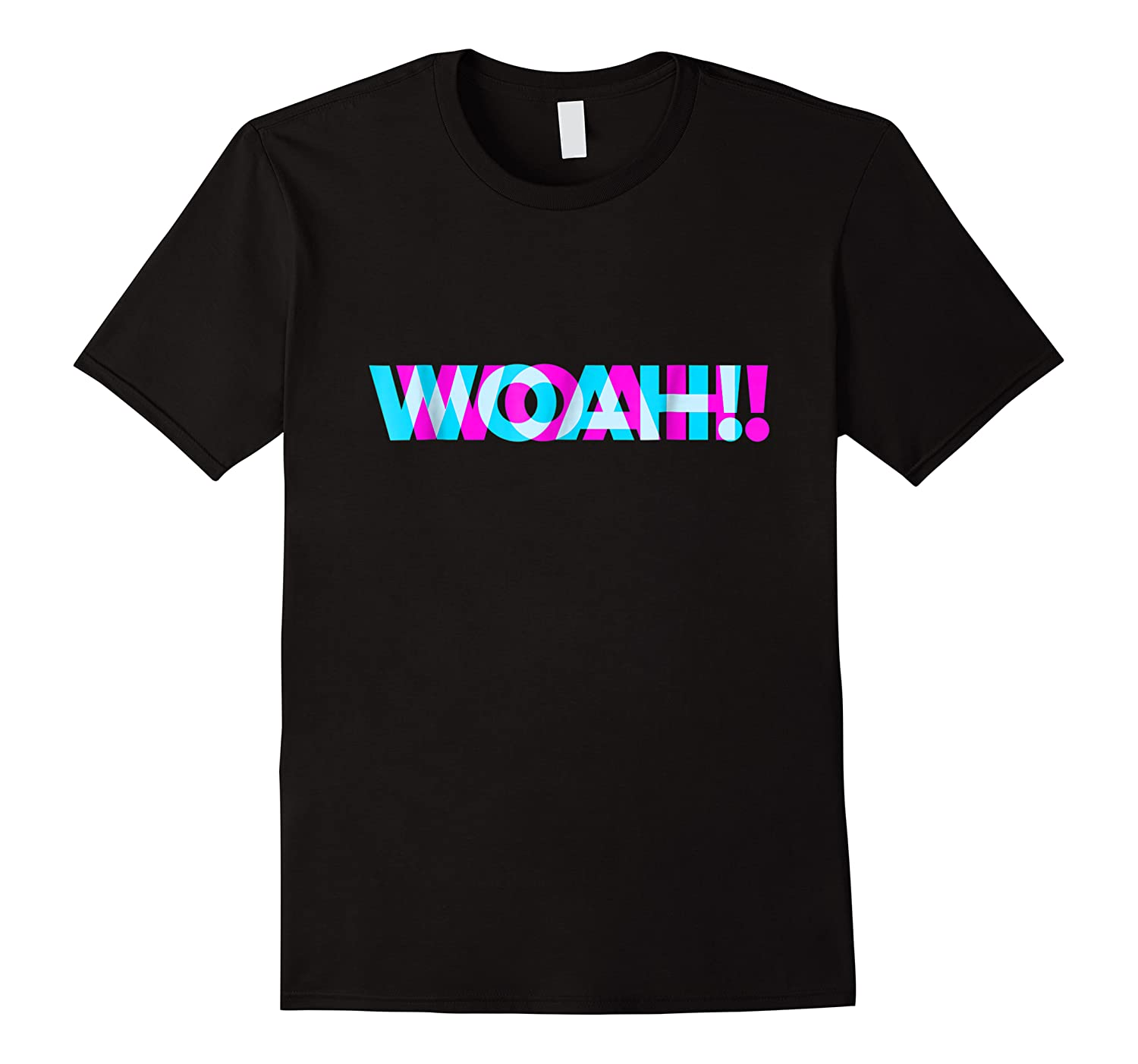 Woah Trippy 3d Effect Blurry Typography Shirts