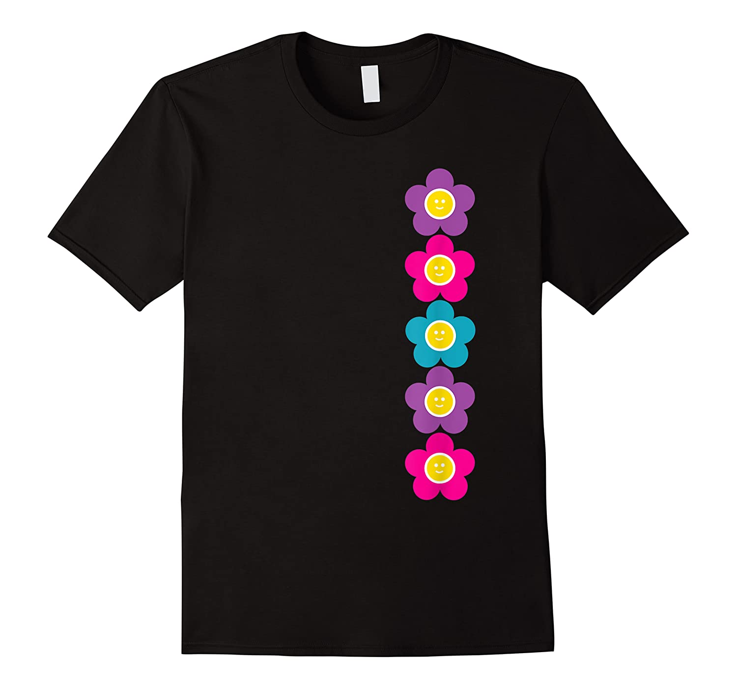 Daisy Flower Pattern Happy, Fun, Bright And Colorful Shirts