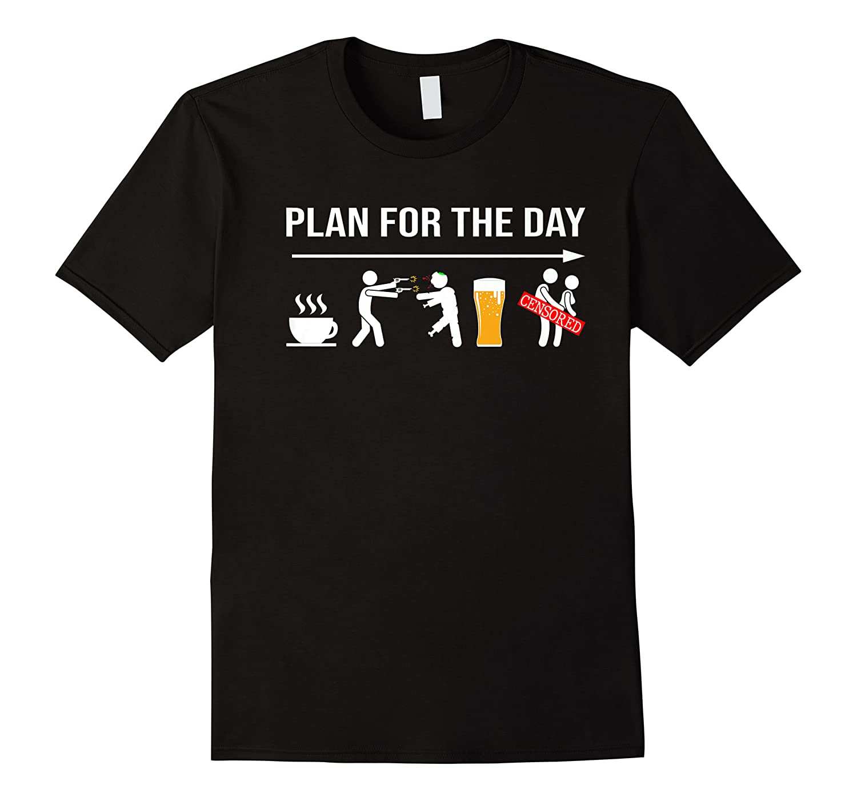 Zombie Hunter Adult Humor Halloween Premium T-shirt