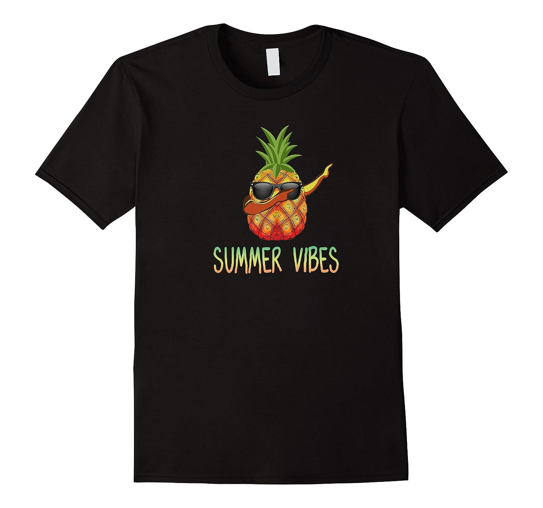 Dabbing Pineapple Summer Vibes Hawaii Aloha Sun Fun Gift Premium T-shirt