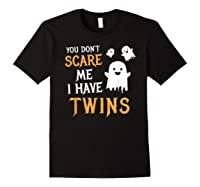 Funny Parents Of Twins Shirt Halloween Gift Black