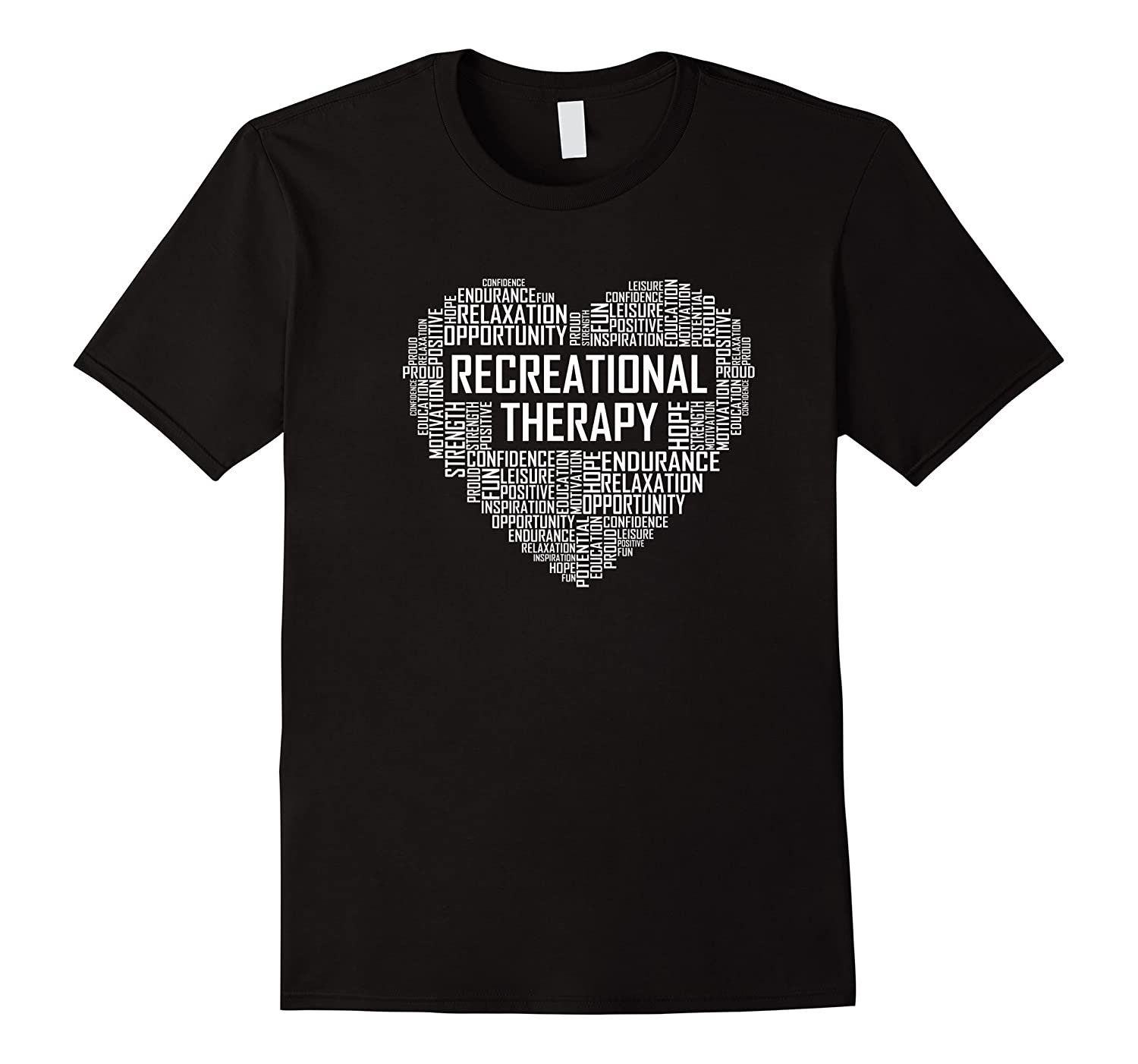 Recreational Therapy Heart Gift Therapist Rt Month Gifts Premium T-shirt