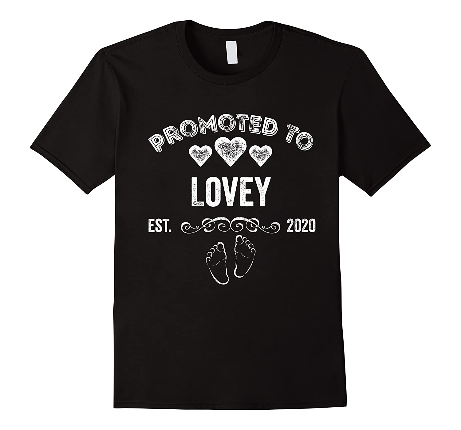 Promoted To Lovey Est 2020 Shirt Gift For Mom T-shirt