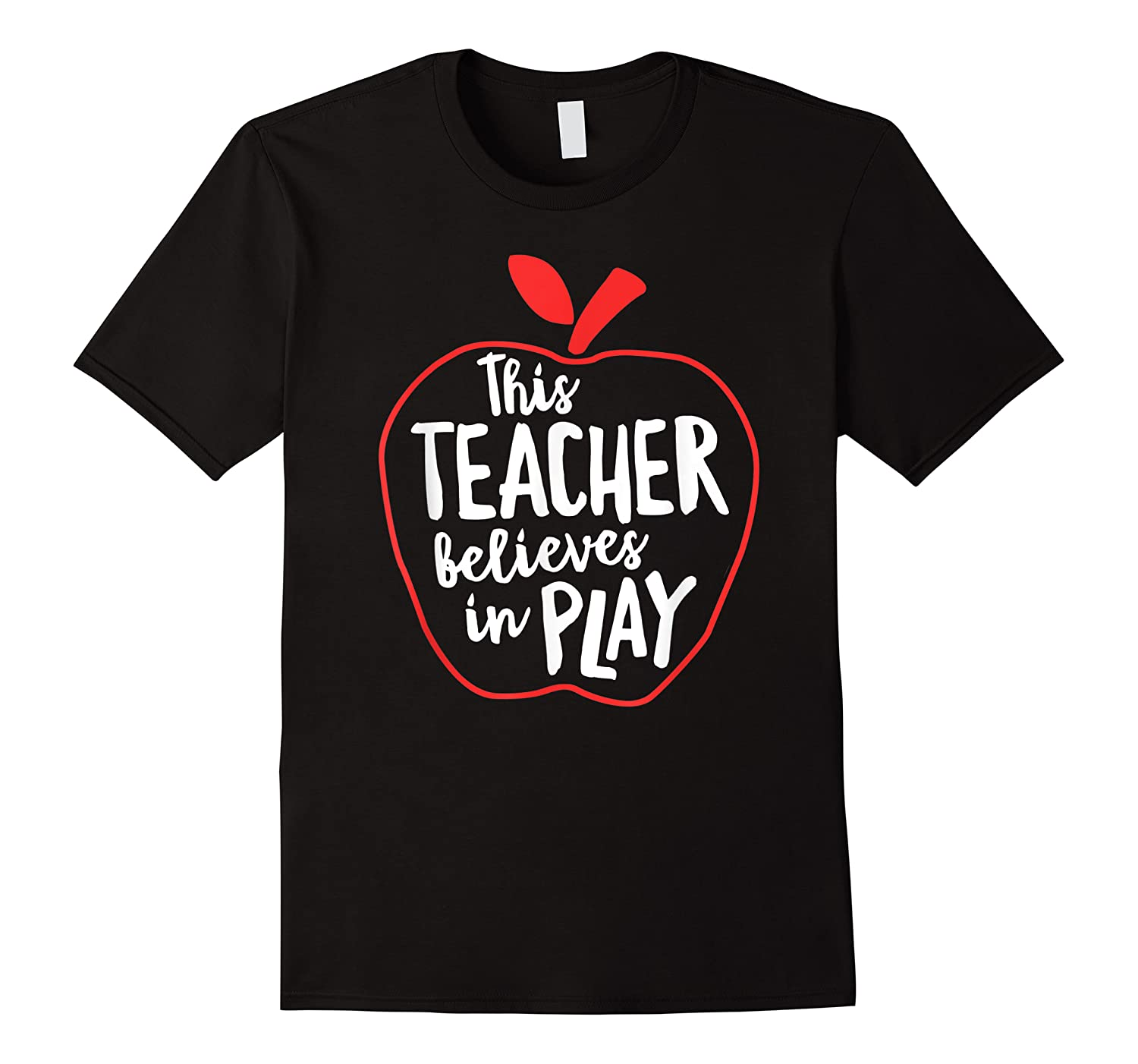 This Tea Believes In Play Tea Shirt With Apple T-shirt