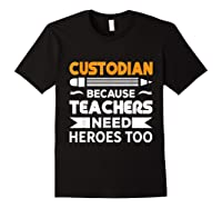 School Custodian Funny T-shirt Black