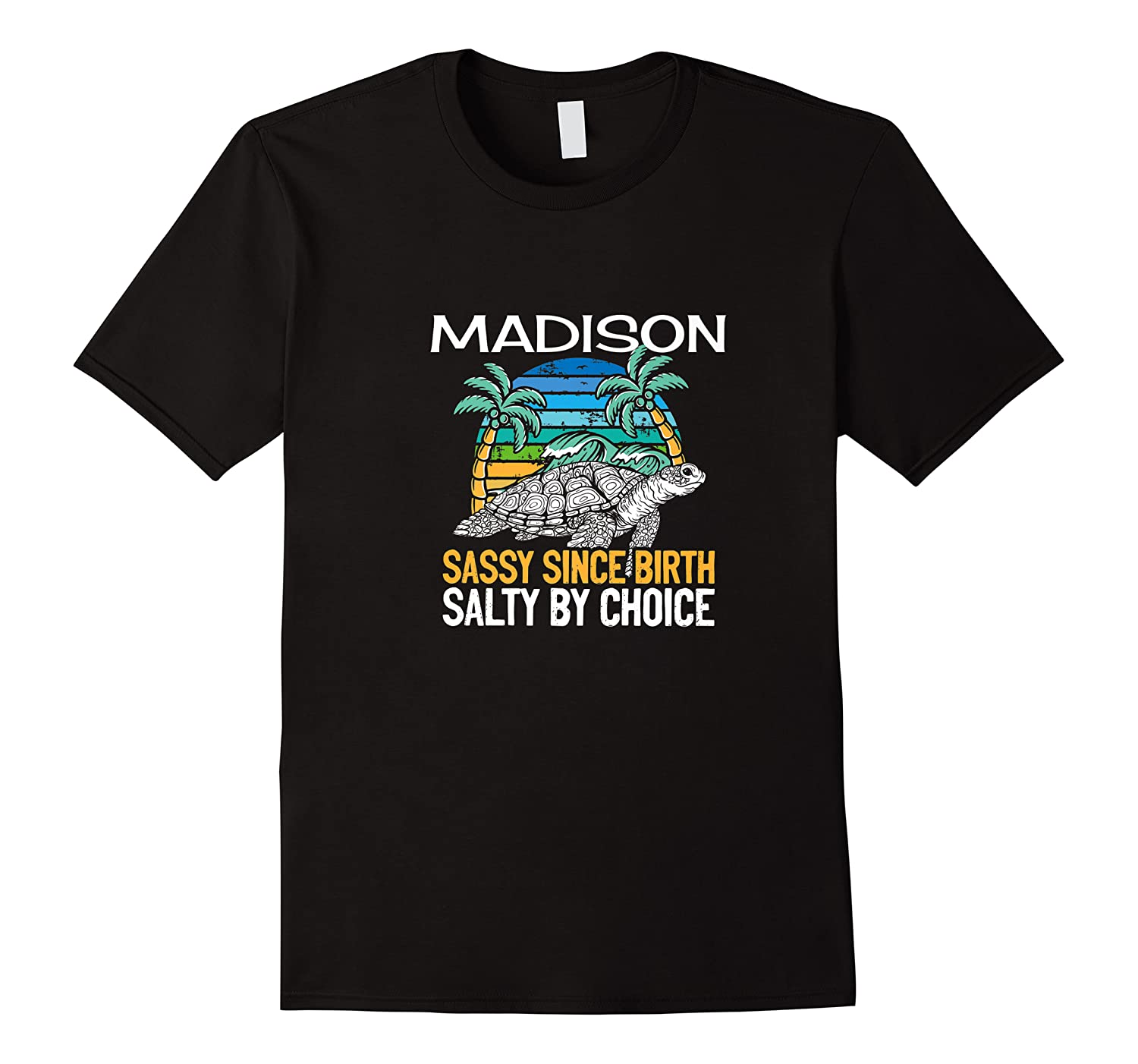 Personalized Madison Design Sassy & Salty Quote Beach Lover Premium T-shirt