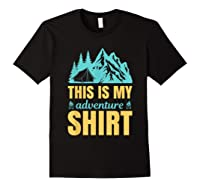 Hiking Outdoor Lover Mountains Hiker Shirts Black