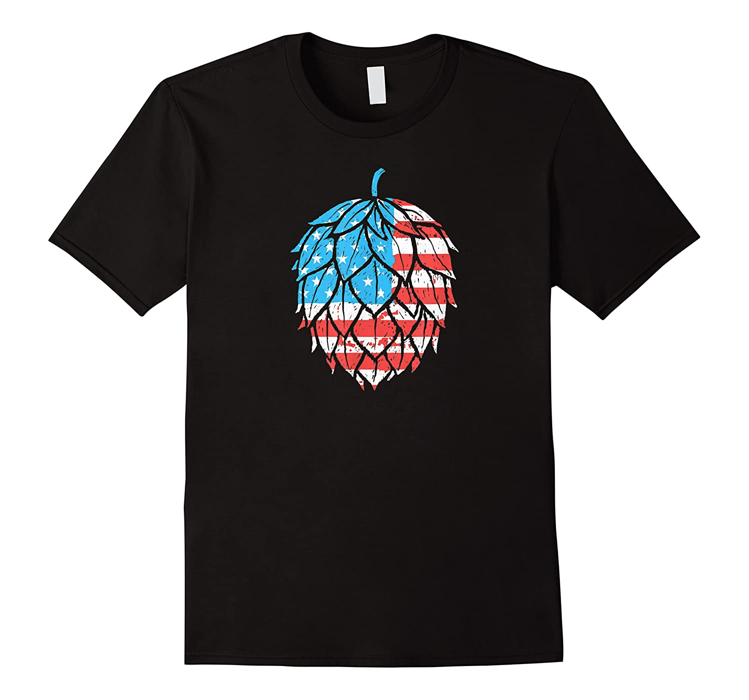 Retro Hops Lover Vintage Usa American Flag Beer Graphic Shirts