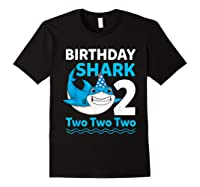 Birthday Shark 2017 2 Years Old Gift For Boy Girl Shirts Black
