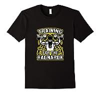 Viking Training For Ragnarok Gym Shirts Black
