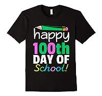 100th Day Of School Grade Tea Shirts Black