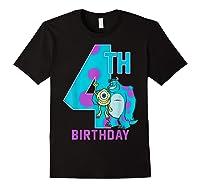 Pixar Monsters Inc Mike Sully Happy 4th Birthday Shirts Black