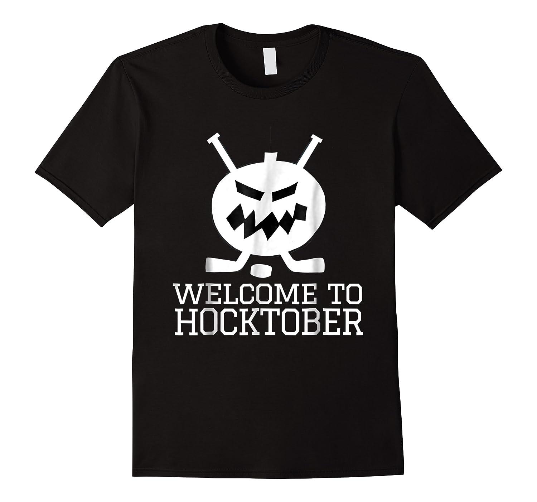 Halloween Hockey Pumpkin Welcome To Hocktober T Shirt