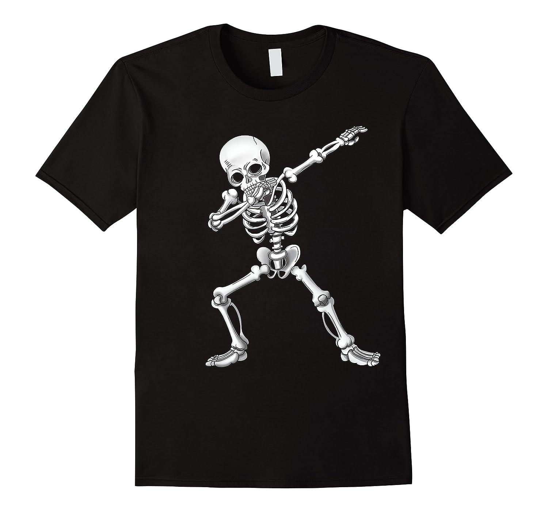 Dabbing Skeleton Halloween Costume Gift T-shirt