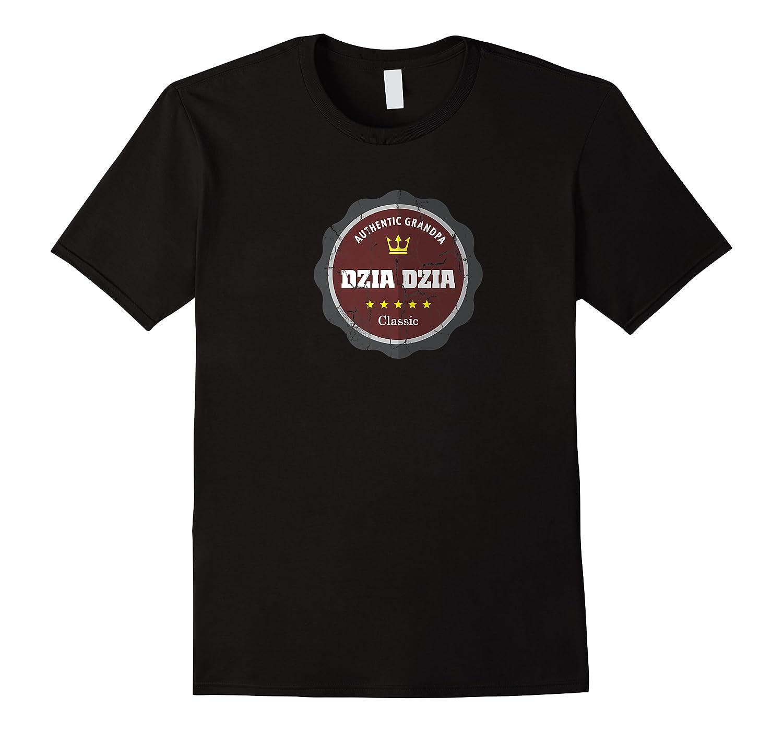 Vintage Design Dzia Dzia Gift For Polish Grandpa Premium T-shirt