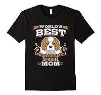 World\\\'s Best Cavalier King Charles Spaniel Mom Dog Owner T-shirt Black