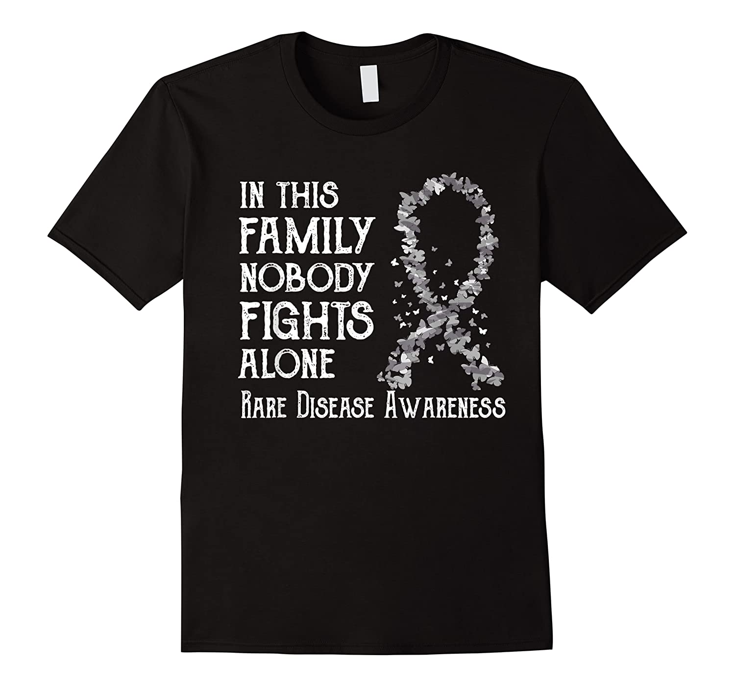In This Family Nobody Fights Alone Rare Disease T-shirt