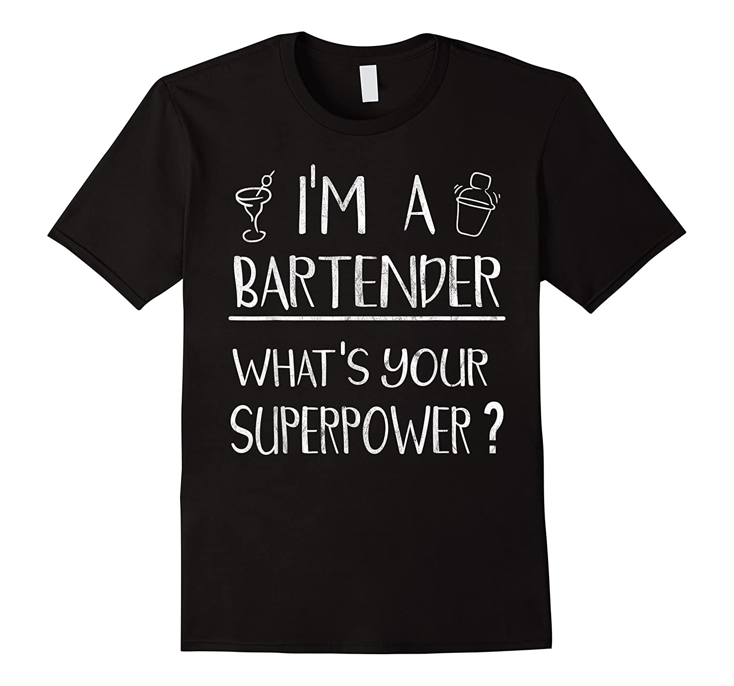 Bartender Superpower Funny Cocktail Bar Gift Shirts