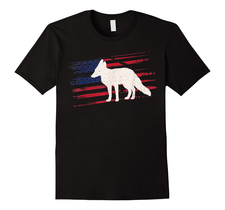 Fox Us American Flag Prairie 4th Of July Animal Usa Gift Shirts