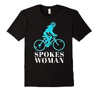Spokes Woman Cycling Shirts Black