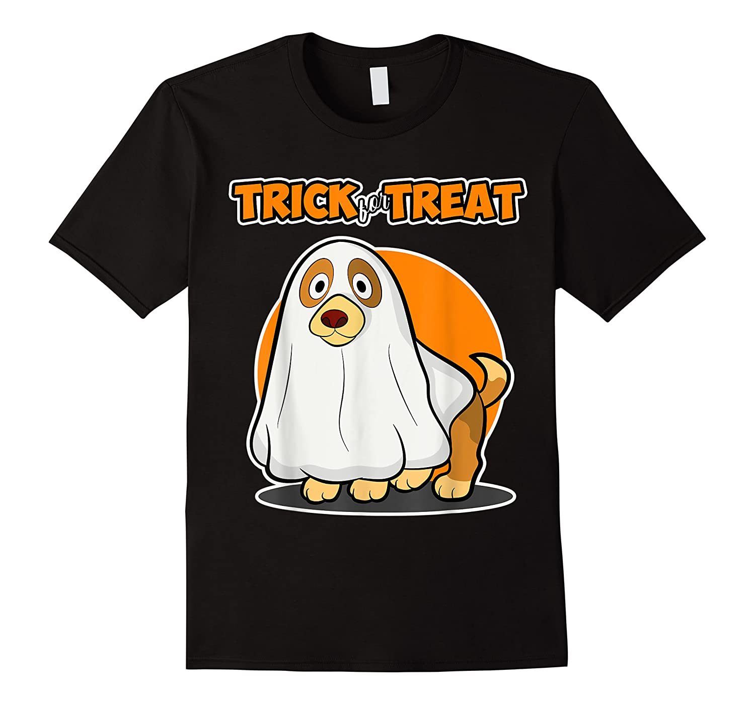 Dog Ghost Halloween Party Trick For Treat Shirts