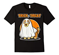 Dog Ghost Halloween Party Trick For Treat Shirts Black