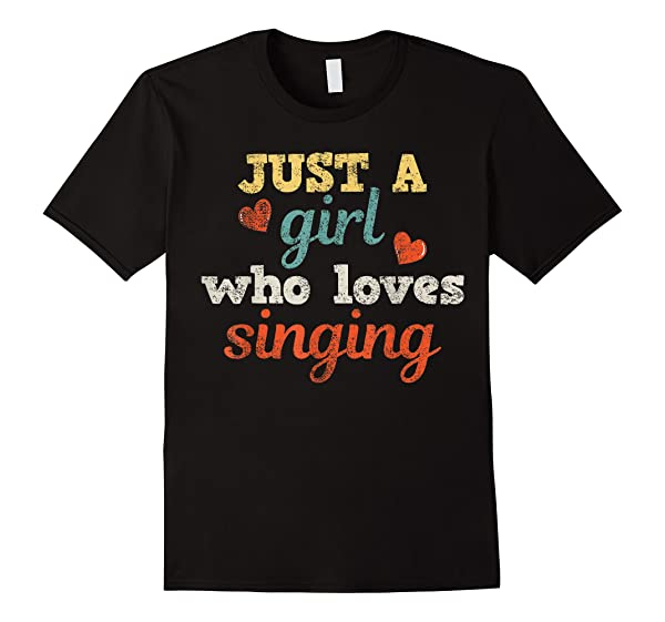 Singing Singer Music Musical Girl Retro Gift T-shirt