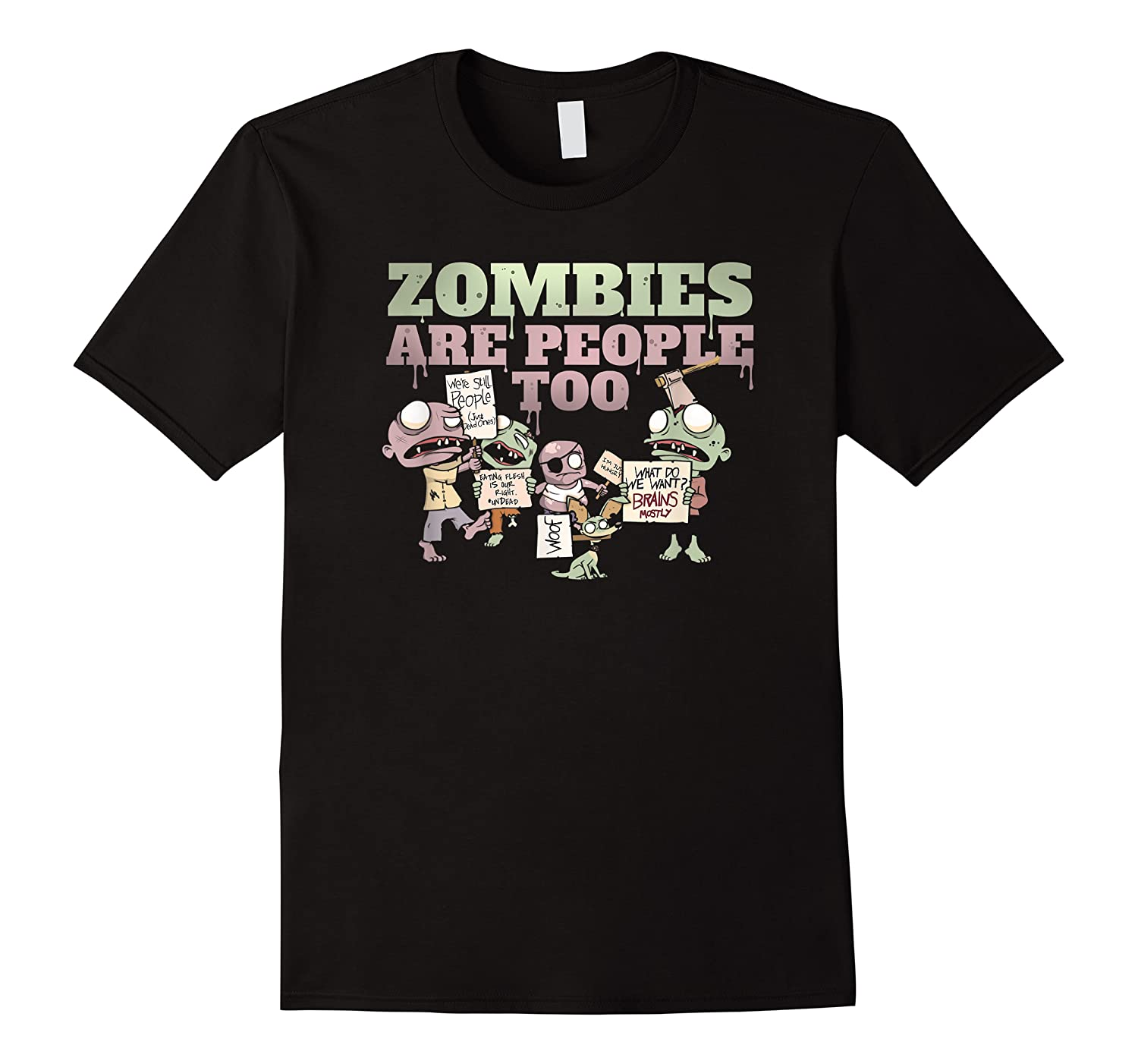 Zombies Are People Too Funny Halloween Shirts