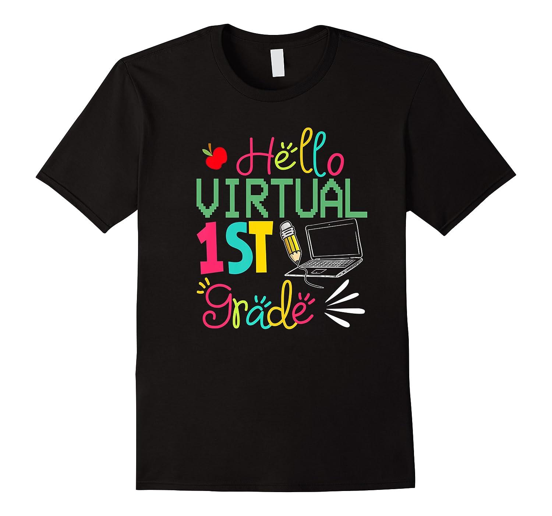 Funny Hello Virtual 1st Grade Gift Back To School 2020 Shirts