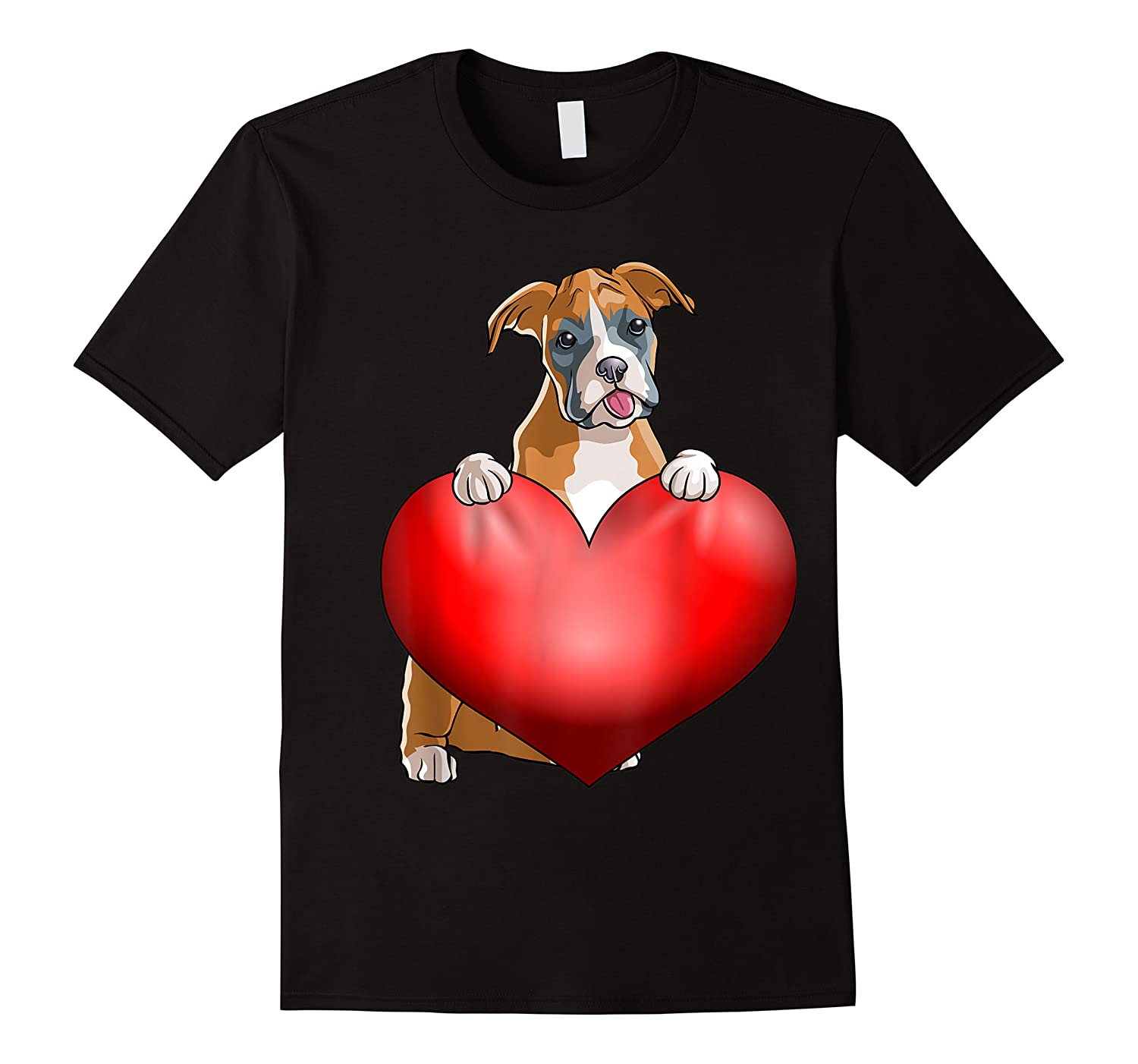 Valentines Day Dog Boxer Heart Gift Girl Shirts