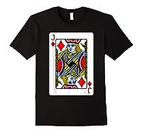 Jack Of Diamonds Playing Card Group Costume Poker Player T-shirt Black