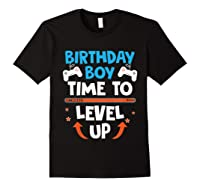 Birthday Boy Time To Level Up Video Game Gamers Gift T-shirt Black