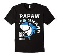 Papaw Shark Halloween Christmas Gift Shirts Black