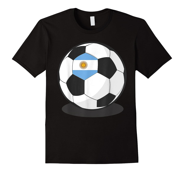 Argentinian Flag On Soccer Ball   Argentina Football Shirts
