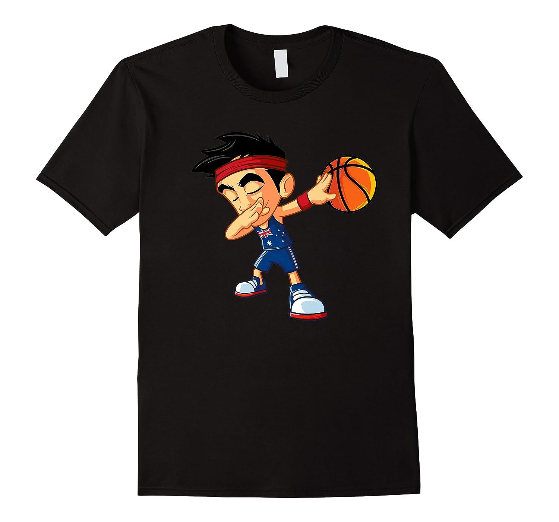 Dabbing Basketball Boy Player Australia Flag Funny Dab Dance Premium T-shirt