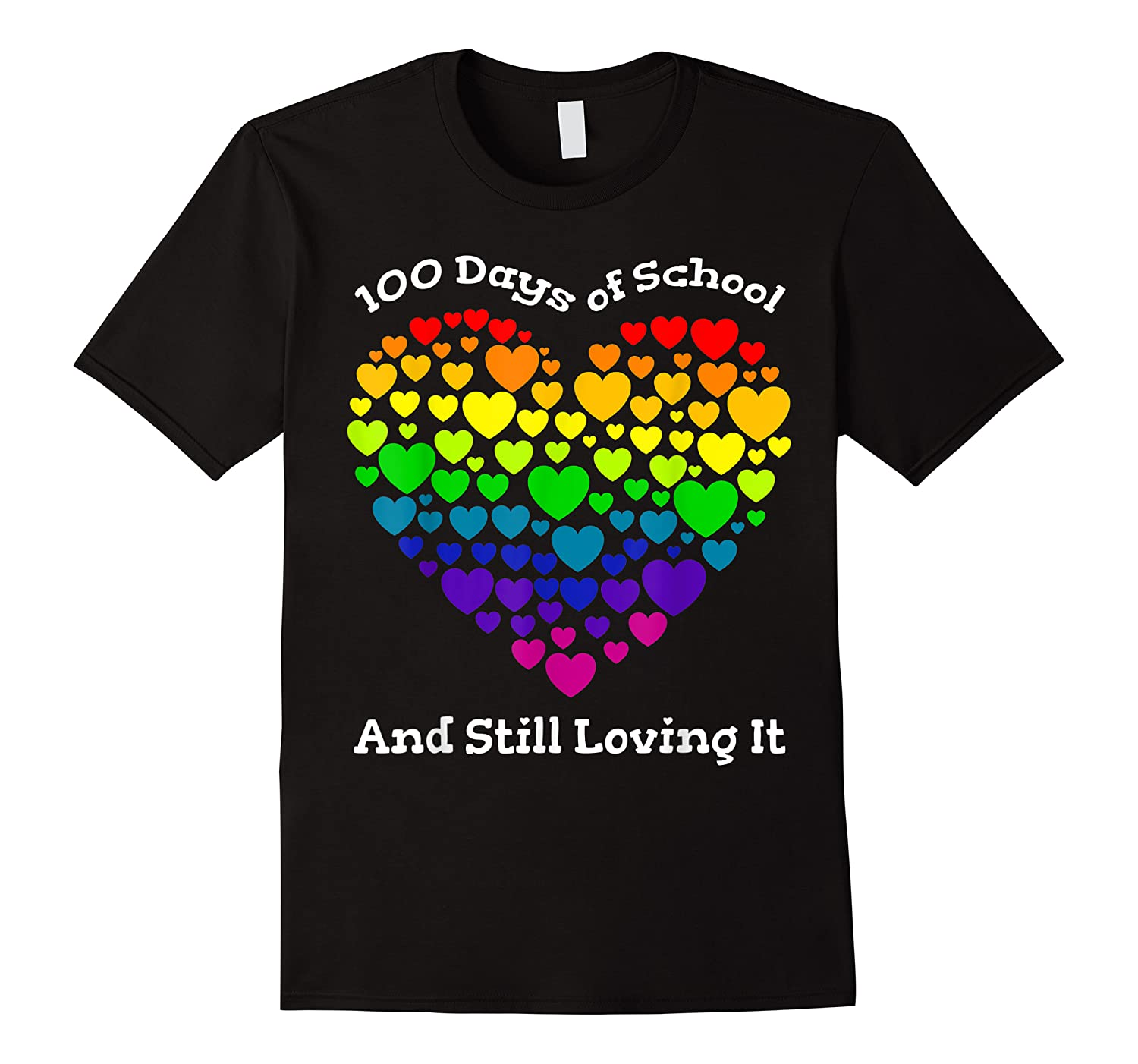 Funny 100th Day Of School Tea Heart Valentine Day Shirts