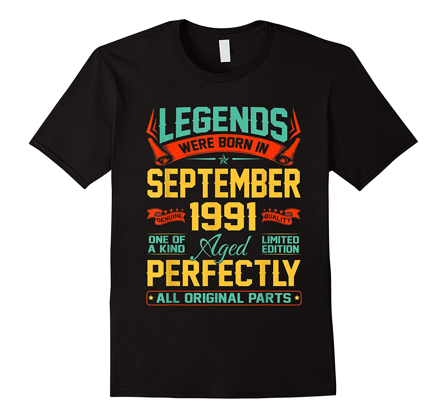Legends Were Born In September 1991 29th Birthday Gifts Shirts