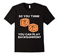 Best Ever Funny Backgammon Player Tee Board Game T Shirt Black