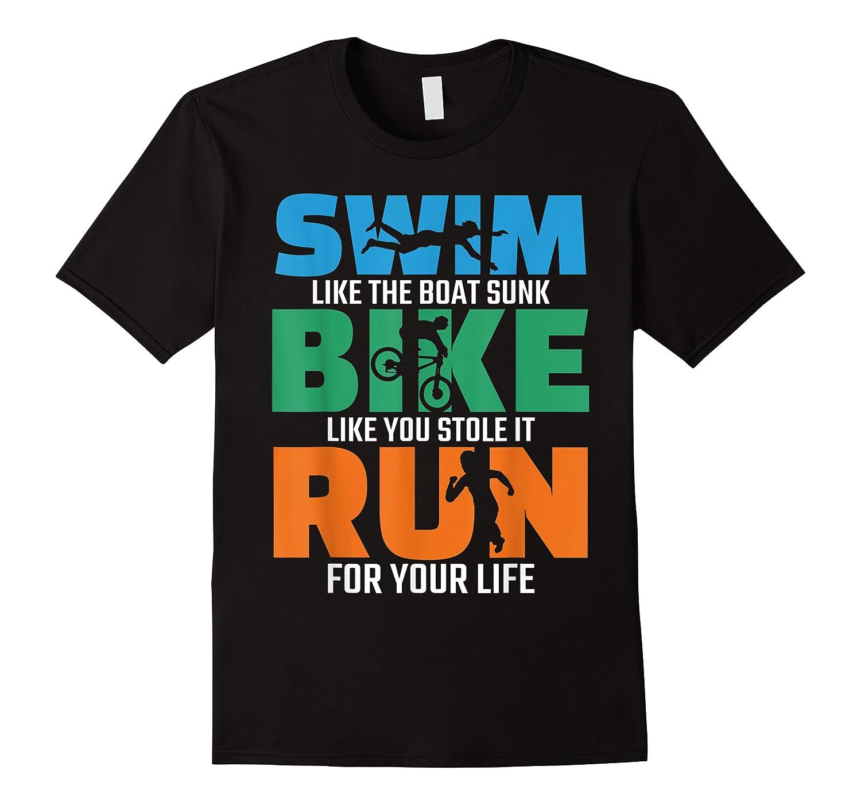 Swim Bike Run Triathlon Running Cycling Swimming Shirts