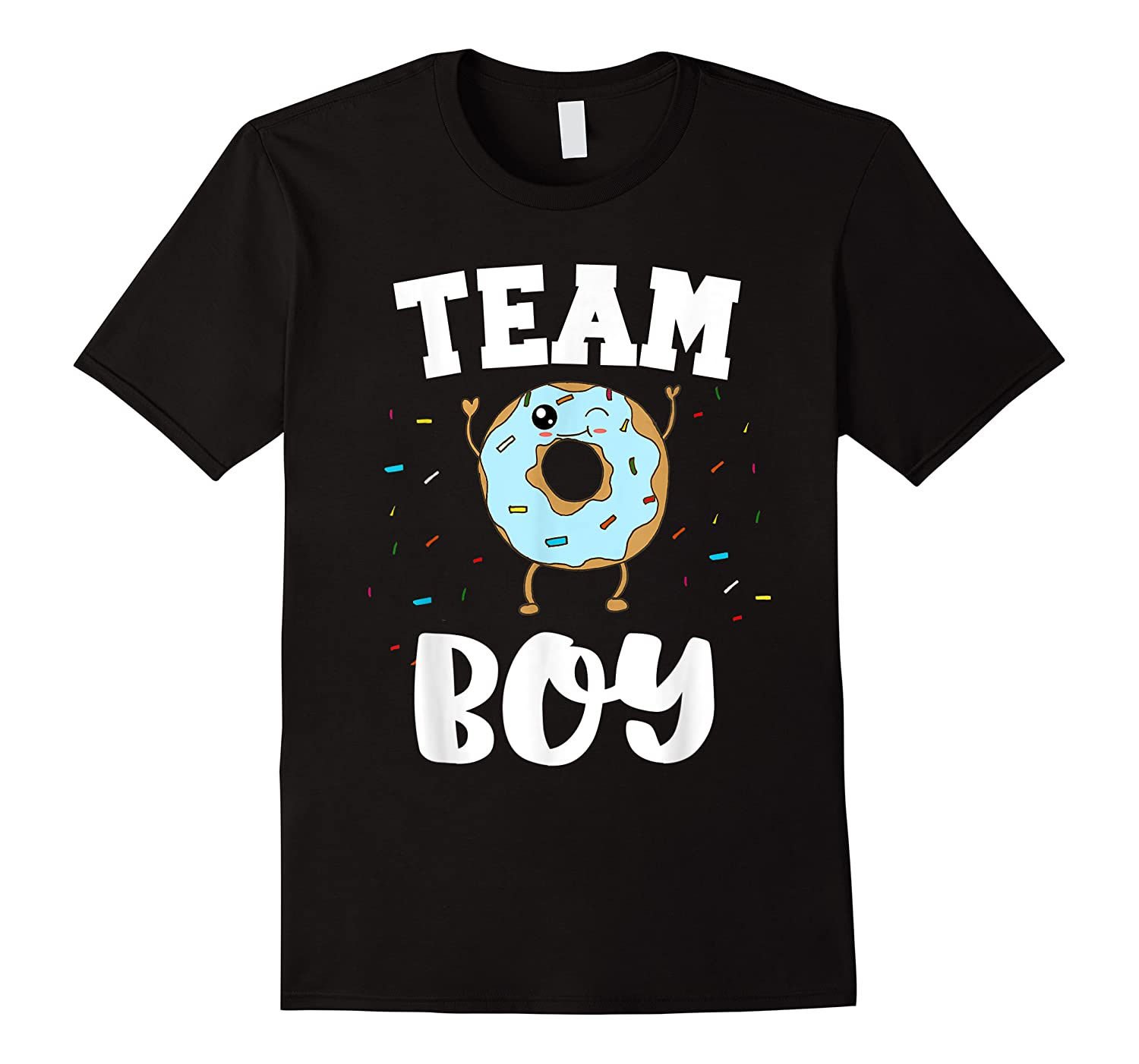 Team Boy Donut Gender Reveal Party Funny And Cute Blue Shirts